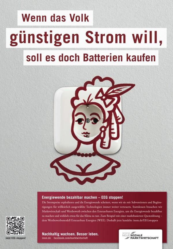 Motiv Printanzeige für die Süddeutsche, 22.09.2012; Quelle: INSM-website